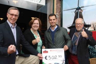 Jubileumfeest OrangeTalent Ermelo levert ruim 3000 euro op voor Molen de Koe