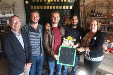 Ruim 500 euro gelopen voor vloer Molen De Koe