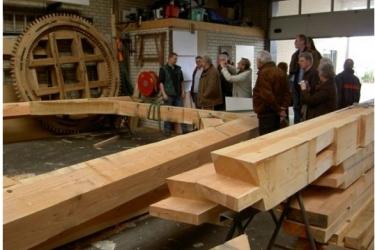 Op bezoek bij molenbouwer Vaags in Aalten