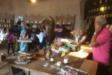 Bezoeken van de molenwinkel